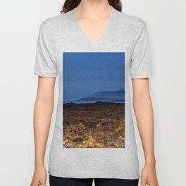 Seaweed Beach at Dusk Unisex V-Neck