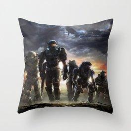 Halo Reach Noble team Throw Pillow