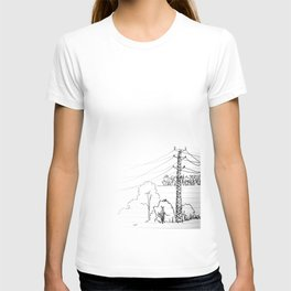 view from train T-shirt