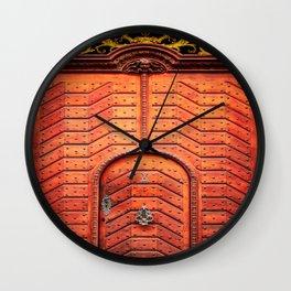 Doors of Prague, No. 4 Wall Clock