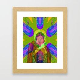 Iconography Madonnaaa Pop Renaissance Framed Art Print