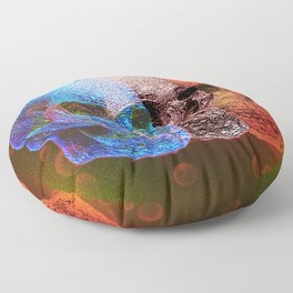 Pop art skulls Floor Pillow