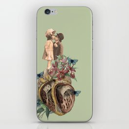 children don't grow up, our bodies get bigger but our hearts get torn up. iPhone Skin