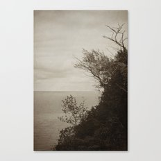 On Edge - Black and White Canvas Print