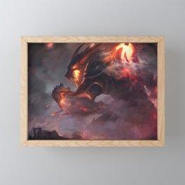Firefang Warwick League of Legends Framed Mini Art Print