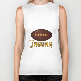True Jaguar American Football Design black lettering Biker Tank