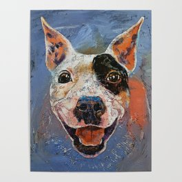 Happy Pitbull Poster