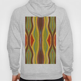 Green Brown Red with Orange and Blue Highlighting Retro Style by annmariescreations Hoody
