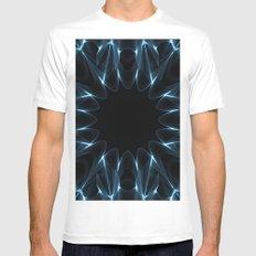 Kaleidoscope in Blue White Mens Fitted Tee MEDIUM