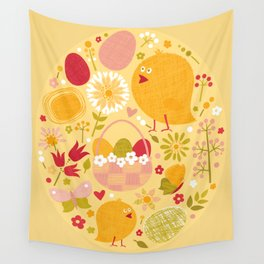 Easter (Yellow) Wall Tapestry