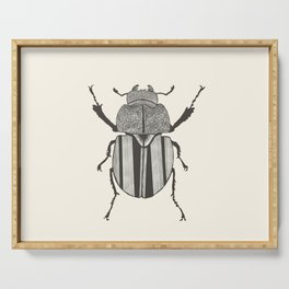 Graphic ekoxe stag beetle Serving Tray