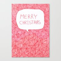 merry christmas Canvas Prints featuring Merry Christmas! by Fimbis