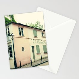 Paris in coral III Stationery Cards