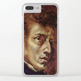 Eugene Delacroix- Portrait of Chopin Clear iPhone Case