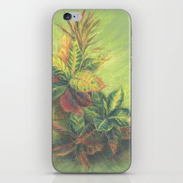 Colorful Leaves on colored paper iPhone Skin