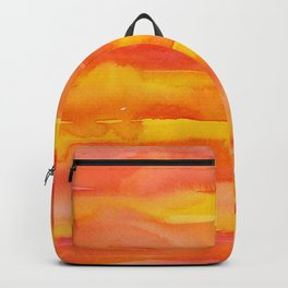 Watercolor Pattern Abstract Summer Sunrise Sky on Fire Backpack
