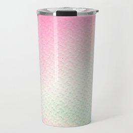 Abstract modern blush pink green watercolor paint Travel Mug