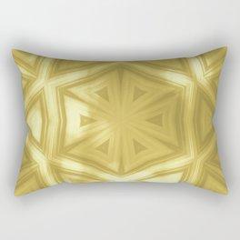 Elegant gold striped kaleidoscope with bokeh Rectangular Pillow