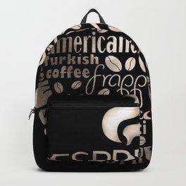 Espresso Typography Backpack