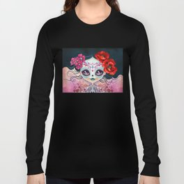 Amelia Calavera - Sugar Skull Long Sleeve T-shirt