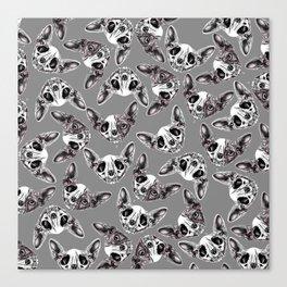 Shynx Half Skull Pattern Canvas Print