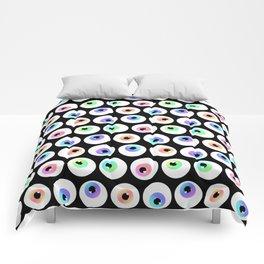 Lovely Sparkly Rainbow Eyeballs Comforters