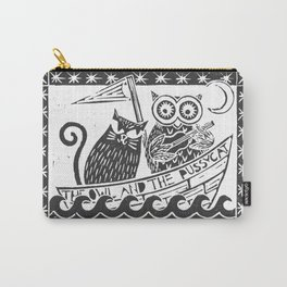 The Owl And The Pussycat (white background) Carry-All Pouch