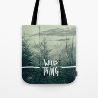 washington Tote Bags featuring Wild Thing: Skagit Valley, Washington by Leah Flores