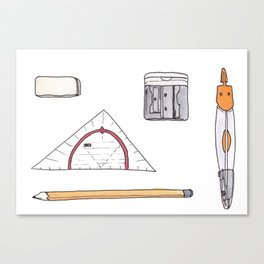 Cute nerdy tools Canvas Print