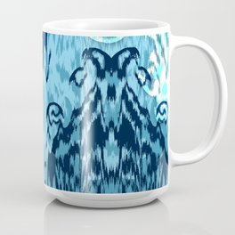 Ikat Medallions: Blue Coffee Mug
