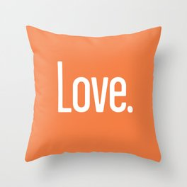 Love Period (Celosia Orange) Throw Pillow