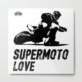 Supermoto Love Metal Print