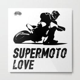 Supermoto Love Metal Print