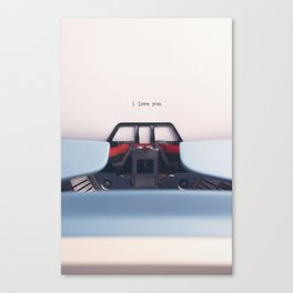 Love Letter // I Love You Written On Vintage Typewriter Canvas Print