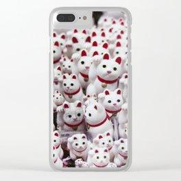 maneki neko cats Clear iPhone Case