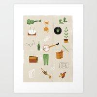 Music & Things Art Print