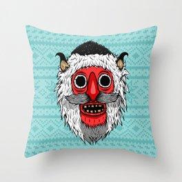 Bucovina Mask / Masca de Bucovina Throw Pillow