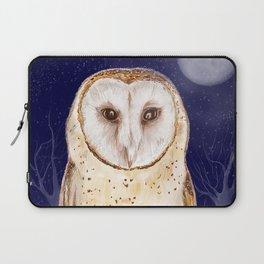 Night watch (Tyto alba) Laptop Sleeve