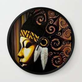 head dress Wall Clock