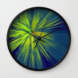 Green yellow splash Wall Clock