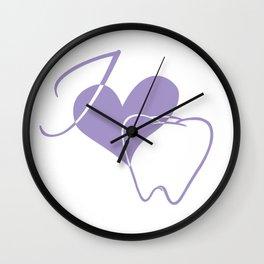I (heart) Tooth Wall Clock