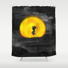You may not be able to fight like a Samurai, but at least you can die like. Shower Curtain