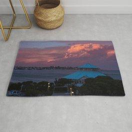 Sunset on the coast of Mar del Plata Rug
