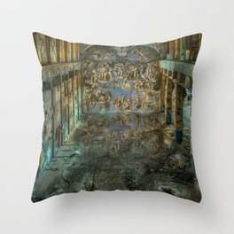Apocalyptic Vision of the Sistine Chapel Rome 2020 Throw Pillow