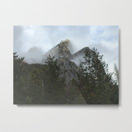 The Three Brothers Shrouded in the Clouds Metal Print
