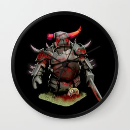 scarred pekka Wall Clock