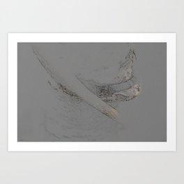 Organic charcoal tree study Art Print