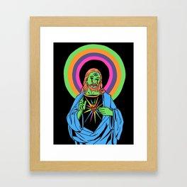 Blacklight Jesus Framed Art Print