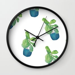 Fiddle Leaf Fig Wall Clock