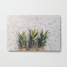 Three ananas Metal Print